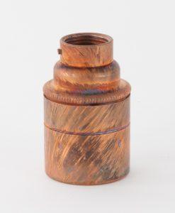 metal pipe light bulb holder tarnished copper E27