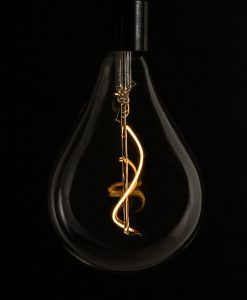 large drop loose spiral filament warm glow LED bulb