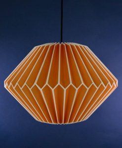 origami lampshade orange