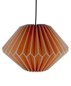 orange origami light shade
