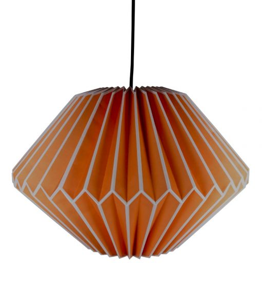 orange origami light shade