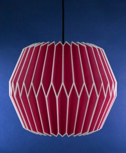 origami lampshade pink