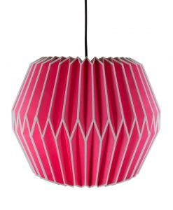 pink origami light shade