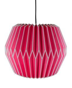pink origami light shade