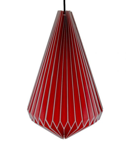red origami light shade