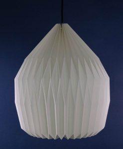 origami lampshade white dome