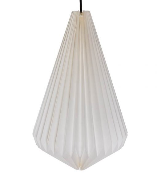 white origami light shade