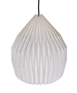 white domed origami light shade