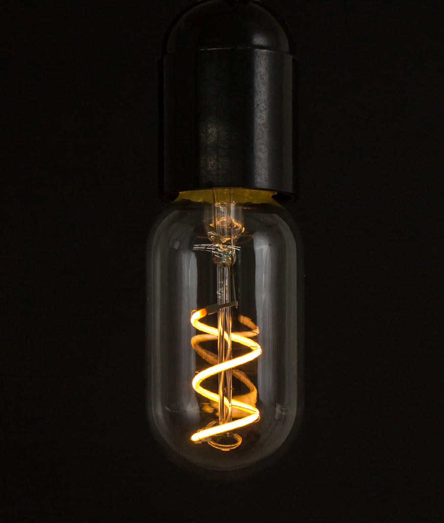 led filament bulb radio valve loose spiral warm glow. Black Bedroom Furniture Sets. Home Design Ideas