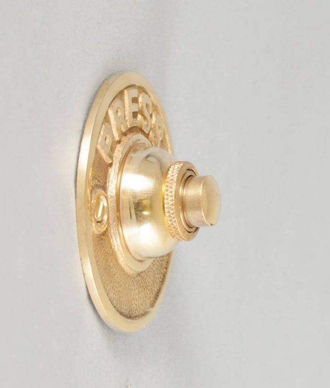 doorbell polished brass