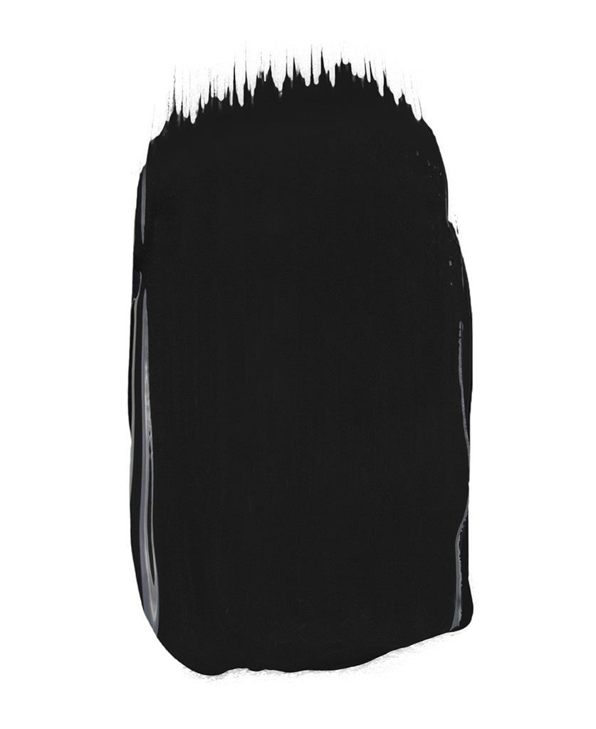 matt black paint sample on white background