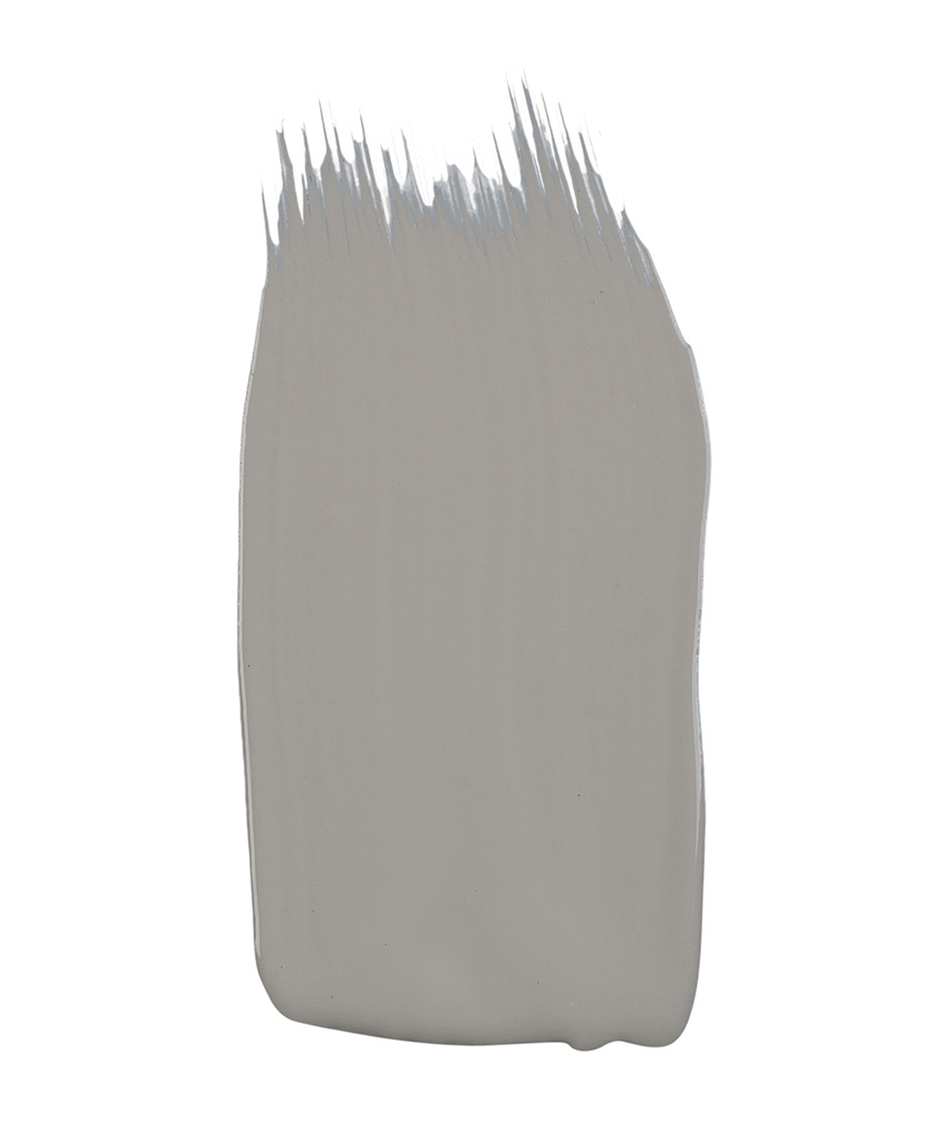 pale grey paint sample on white background