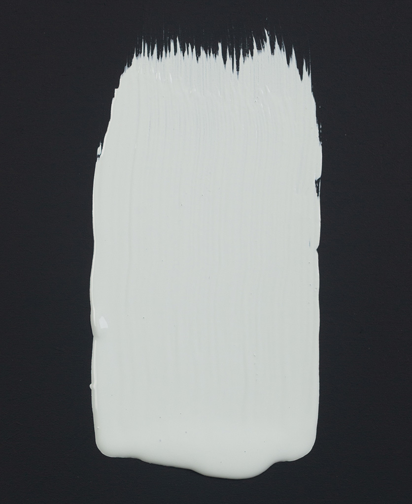 Just a perfect grey light grey paint swatch on dark background