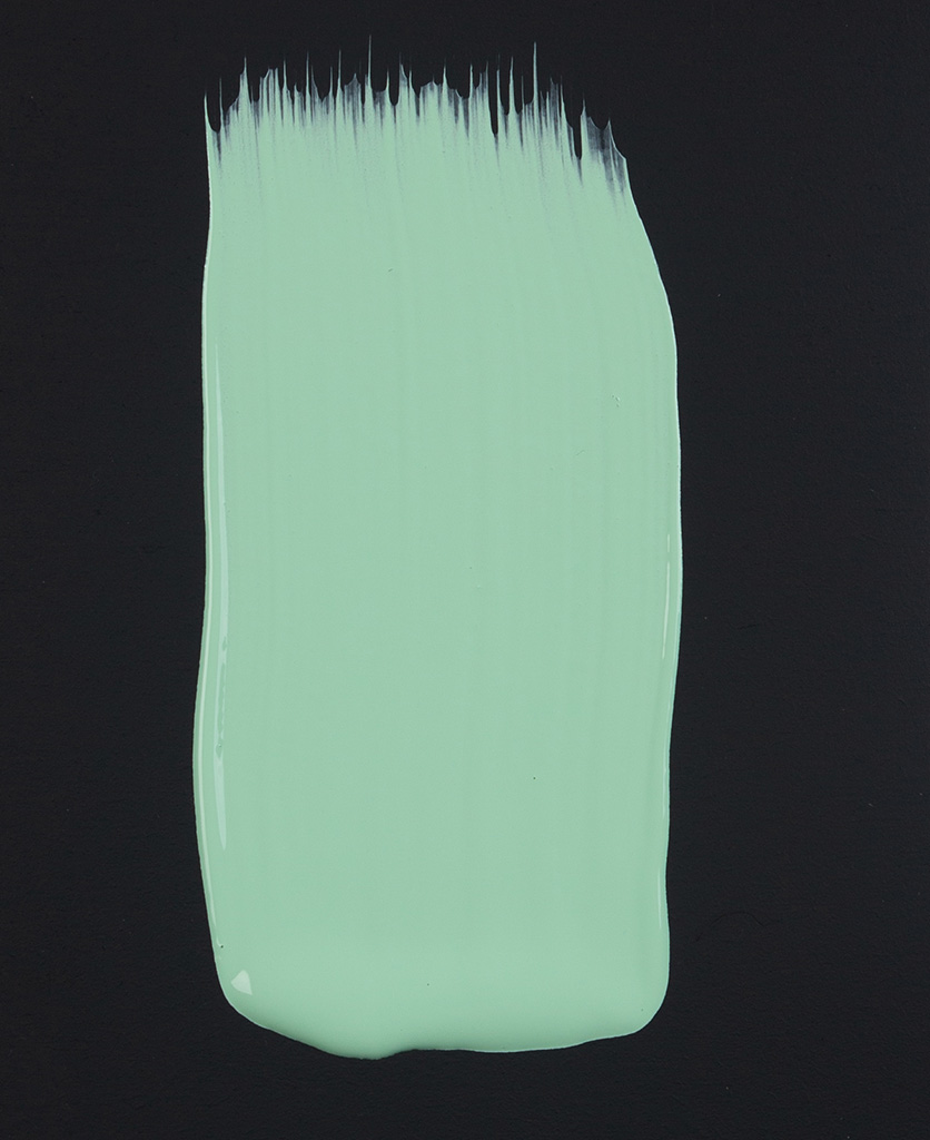 Make a mint green paint swatch on dark background