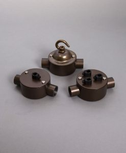 Double Conduit Junction Box Brewer's Brass