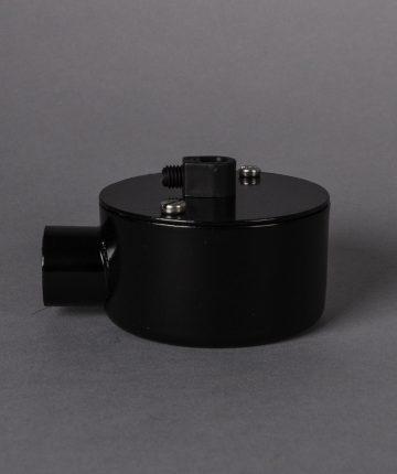 black single junction conduit 1 point