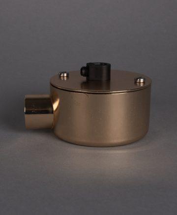 polished copper single junction conduit 1 point