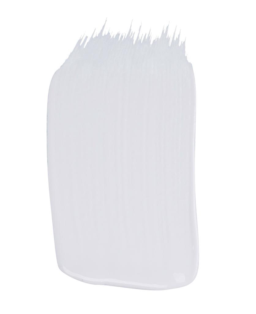 matt white paint sample on white background