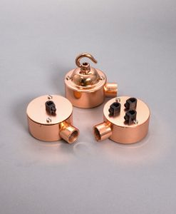 Single Conduit Junction Box Polished Copper