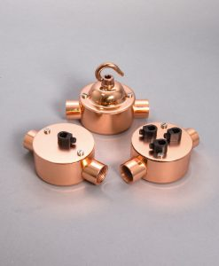 DOUBLE CONDUIT JUNCTION BOX Polished Copper