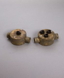 Double Conduit Junction Box Smoked Gold