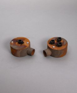 Single Conduit Junction Box Tarnished Copper