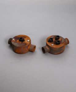 Double Conduit Junction Box Tarnished Copper