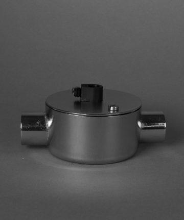 silver double conduit junction box silver 1 point