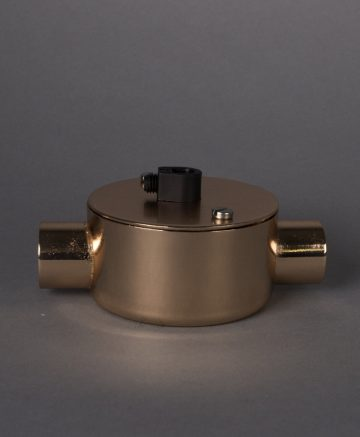 polished copper double junction conduit 1 point