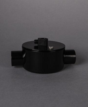 black double junction conduit 1 point