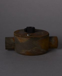 tarnished copper double junction conduit 1 point