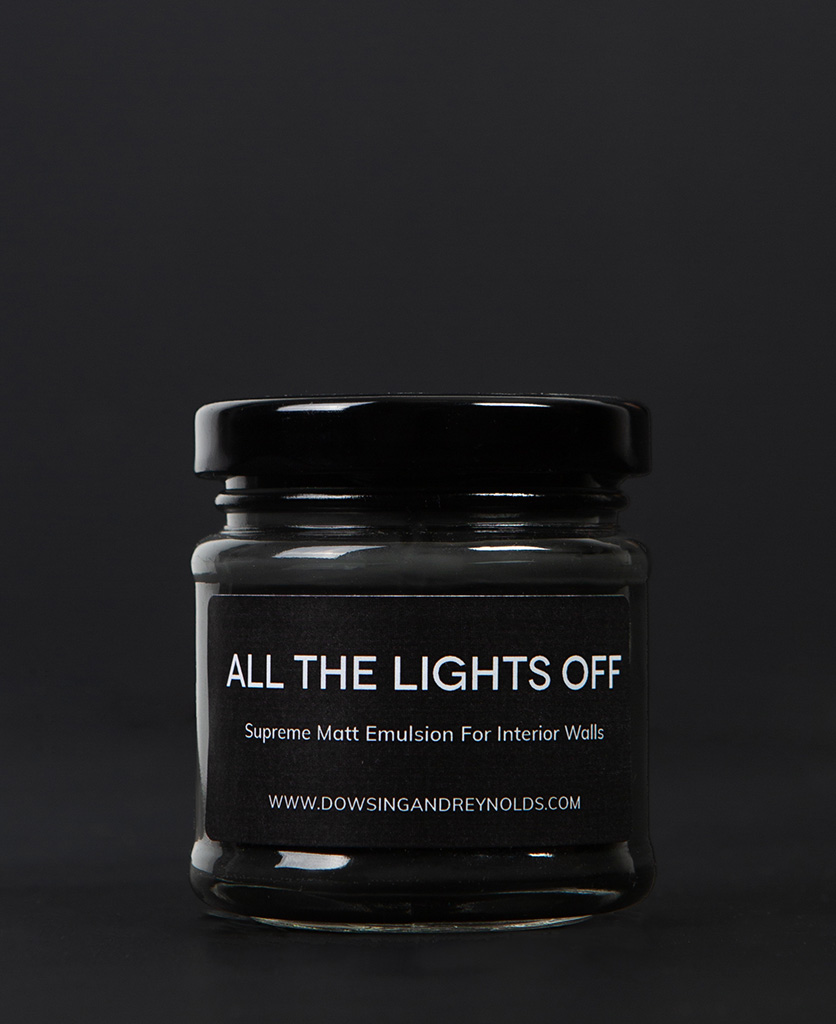 all the lights off paint sample pot