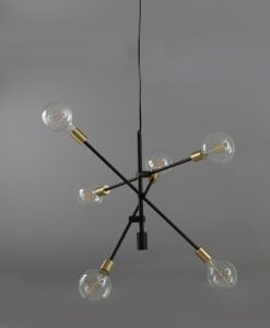 Trikonasana ceiling pendant light