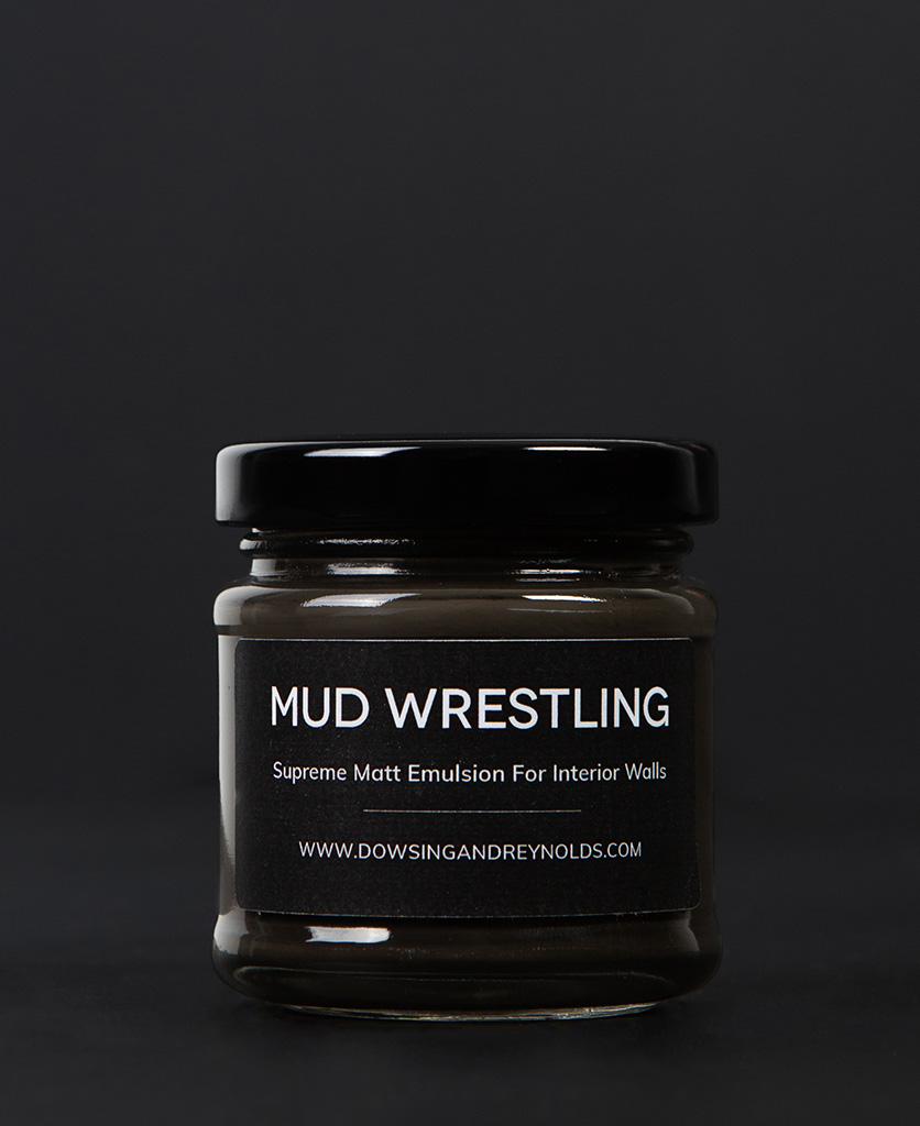 mud wrestling paint sample pot