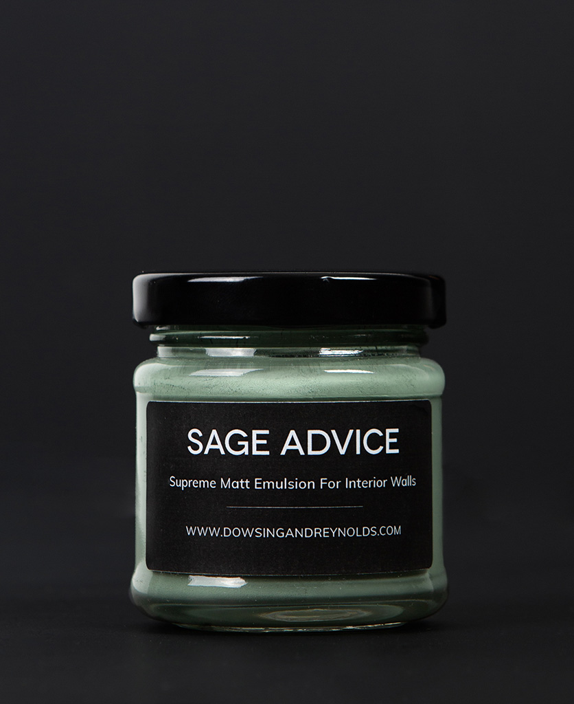 sage advice paint sample pot