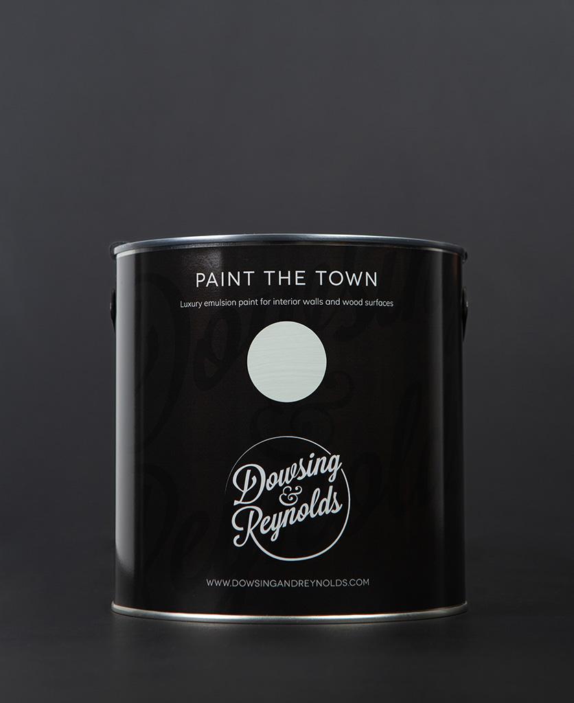 sea foam party paint tin