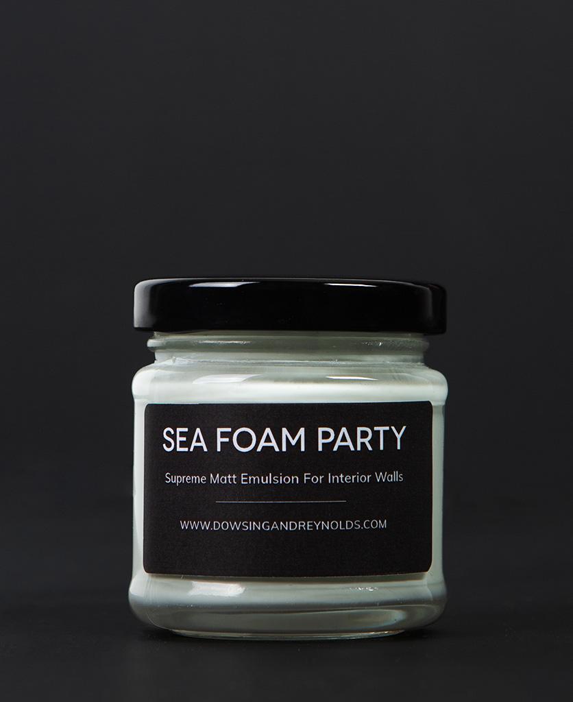 sea foam party paint sample pot