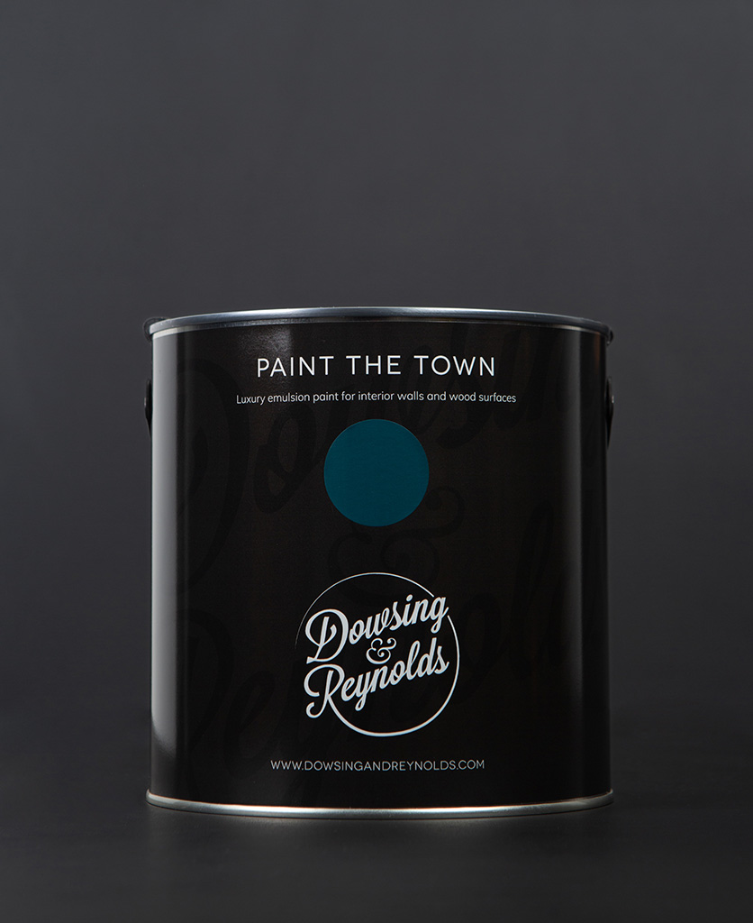 teal the show paint tin