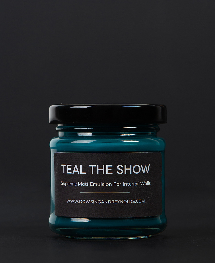 teal the show paint sample pot