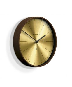 Newgate Mr Clarke dark wood & brass linear dial wall clock