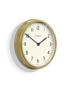 The Spy Clock Wall Clock Brass & White