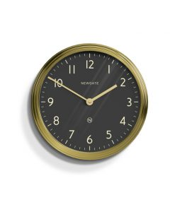 brass & black wall clock