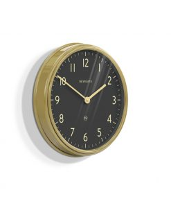 Spy Clock Wall Clock Brass & Black