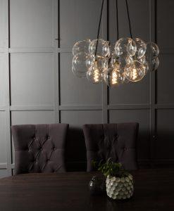 multi drop bubble chandelier glass pendant