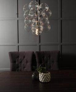 bubble chandelier glass pendant