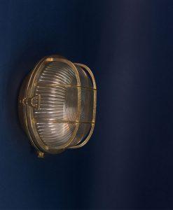 bulkhead light paul polished brass