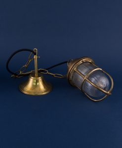 george polished brass bulkhead light