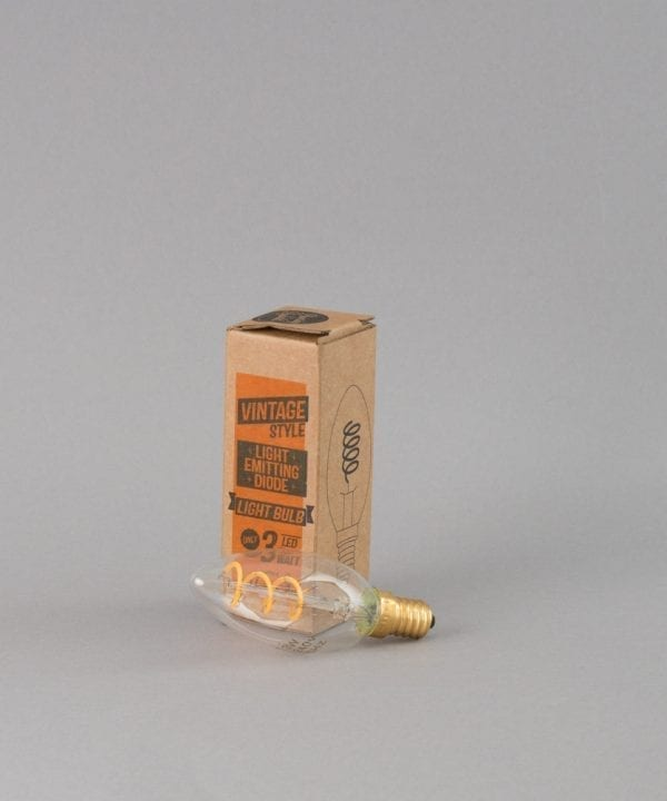 candle e14 LED light bulb with spiral filament