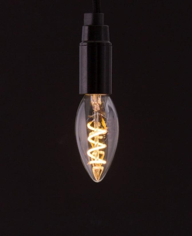 E14 LED Candle Light Bulb Spiral Filament Warm Glow