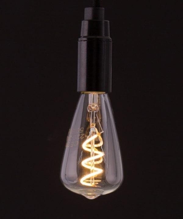 E14 LED Pear Light Bulb Spiral Filament